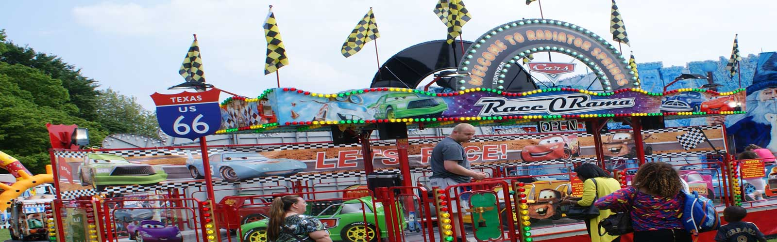John Collins Funfairs new Race O Rama childrens ride